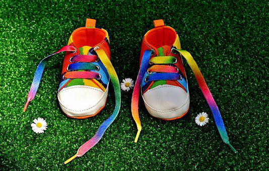 Rainbow Colors, Shoes, Baby Shoes, Colorful, Color