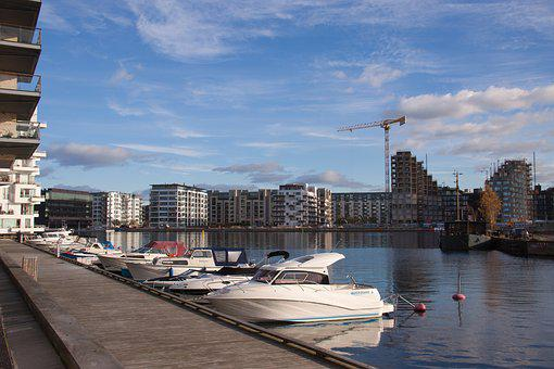 Pier, Boats, Quay, Canal, Danish, Denmark, Front