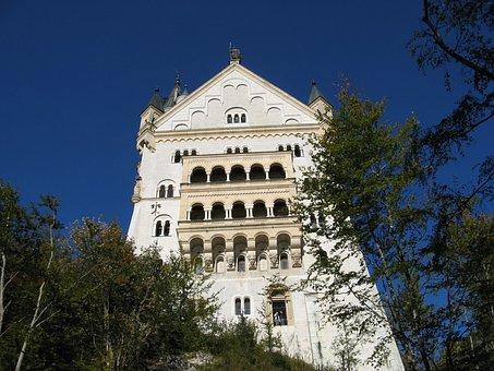 Germany, Castle, Neuschwanstein, Tourism, Trip, Ride