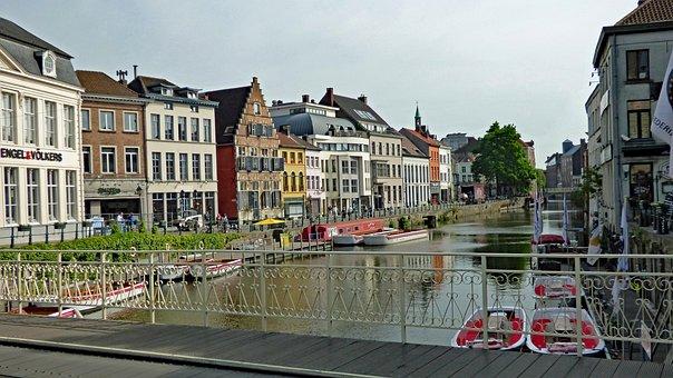 Ghent, Belgium, Architecture, Canal, Heritage, Gent
