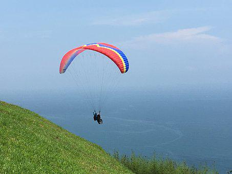 Paraglider, Parachute, Gliding, Skydiving