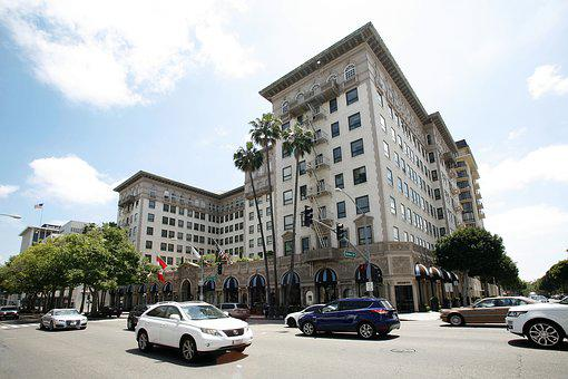 Beverly, Wilshire, Hotel, Hills, Los, Angeles, Usa
