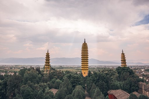 In Yunnan Province, Three Pagodas, Light