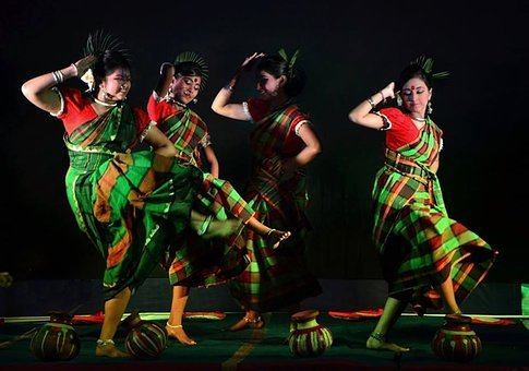 Dance, Folk, Indian, Ethnic, Performance, Traditional