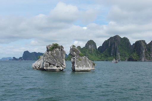 Halongbay, Background, Landscape, Natural, Bay