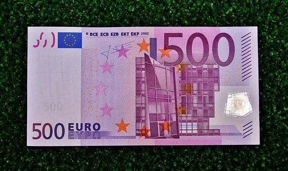 Euro, 500, Dollar Bill, Money, Currency, Paper Money