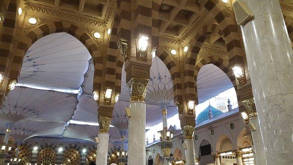 Masjid Nabawi, Masjid, Madinah, Medina, Prayers, Muslim