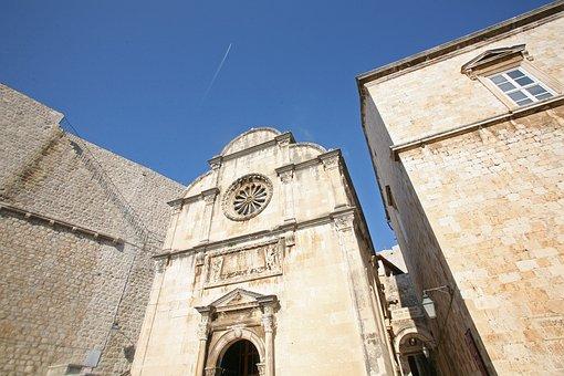 Dubrovnik, Church, Croatia, St, Saviour, Old, Town