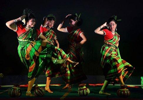 Dance, Folk, Indian, Ethnic, Performance, Traditional