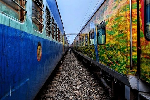 Indian, Railway, Train, Travel, Station, City