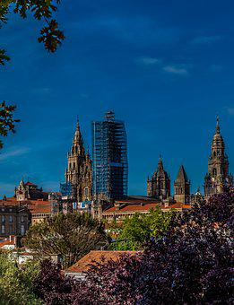 Alameda, Cathedral, Camino, Santiago, De, Compostela