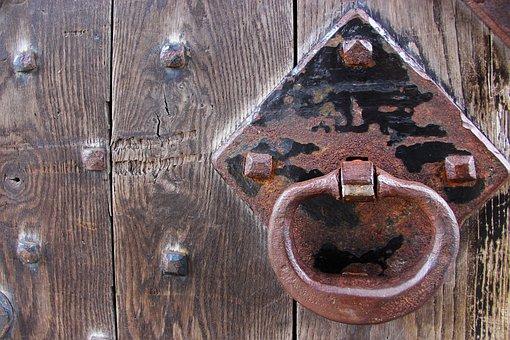 Door, Knocker, Metal, Handle, Antique, Old, Ancient