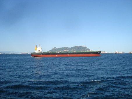 Gibraltar, Strait, Mountains, Cliff, Rock, Atlantic