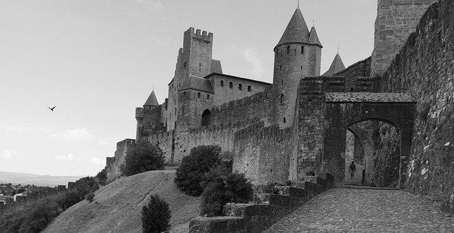 Carcassonne, France, Medieval City, Porte D'aude, Entry