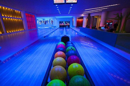 Bowling, Ball, Sports, Circle, Heavy, Night
