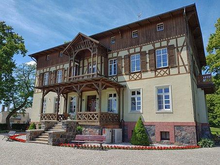 Manor House, Jeziorki, Osieczna, Superstructure, Farm