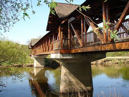 Hunting Bridge, Trough, Dessau, Bike, Bike Ride