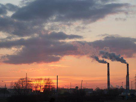 Pollution, Factory, Industry, Chimney