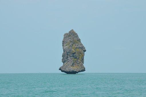 James Bond Island, Rock, Thailand, Landscape, Seascape