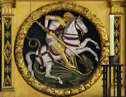 George And The Dragon, Mosaic, Icon, Dragon, George