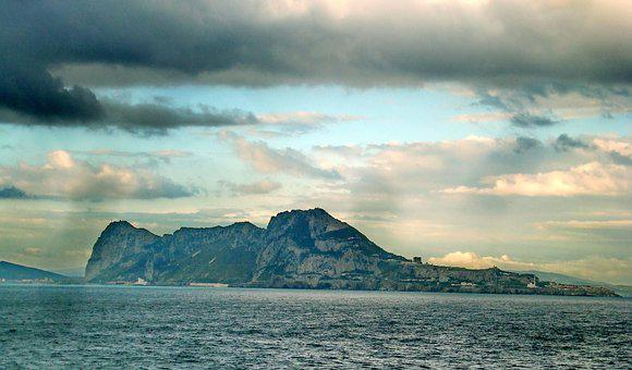 Gibraltar, Strait, Mountains, Cliff, Rock, Atlantic