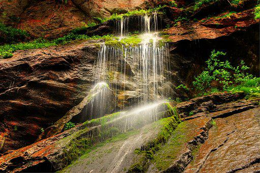 Clammy, Water, Gorge, Nature, Waterfall, River, Rock