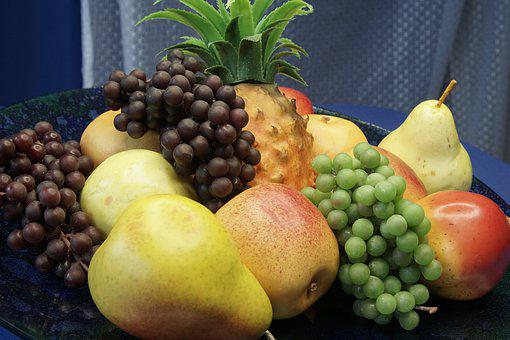 Fruit, Grapes, Pears, Apple