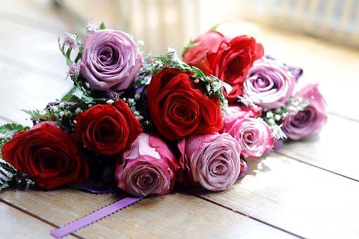 Flower, Wedding, Rose, Red, Pink, Wedding Flowers