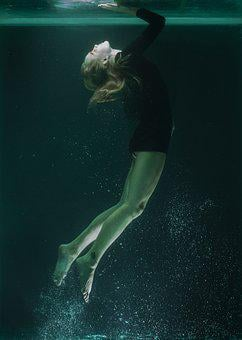 Underwater, Model, Portrait, Beautiful, Fashion Shoot