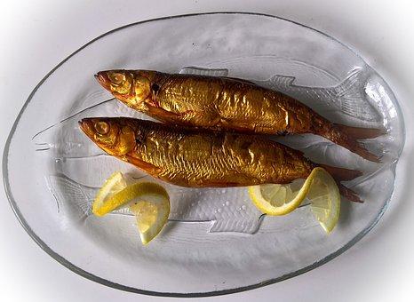 Fish, Whitefish, Smoked, Golden Yellow, Freshwater Fish