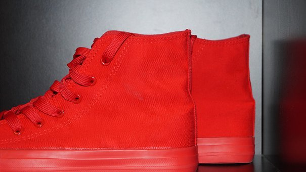 Chuck Taylor, Shoes, Red, Sports Shoes, Red Boots