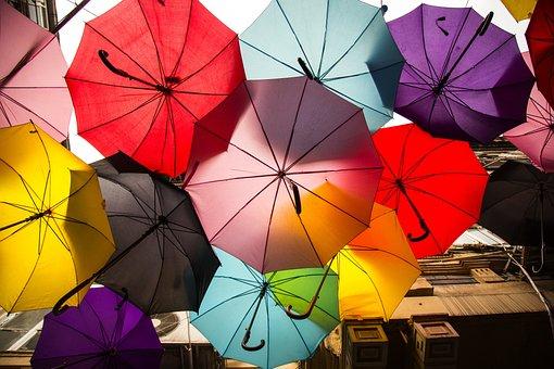 Umbrella, Street, Avenue, Color, Beautiful, Decor