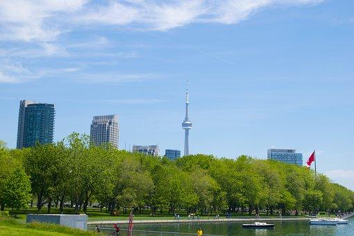 Toronto, Ontario, Canada, Cn Tower, City, Urban, Travel