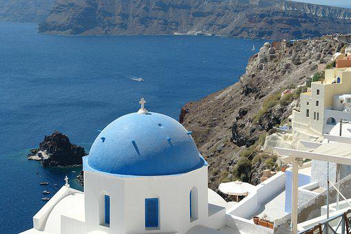 Santorini, View, Greece, Travel, Greek, Europe, Island