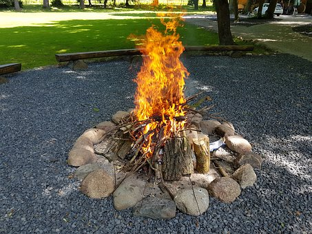 An Outbreak Of, Flames, Campfire, The Flame, Glow, Hot