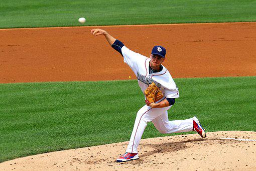 Baseball, Pitch, Ball, Outdoor, American, Pitcher, Play