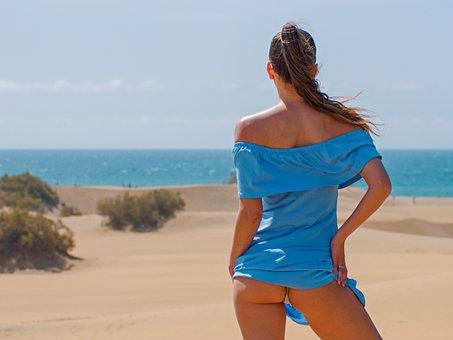 Beach, Holiday, Canary Islands, Summer, Woman