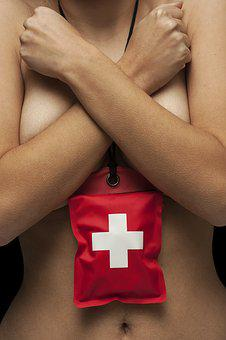 First Aid, Red, Women's, Naked, Chest, Body, Young