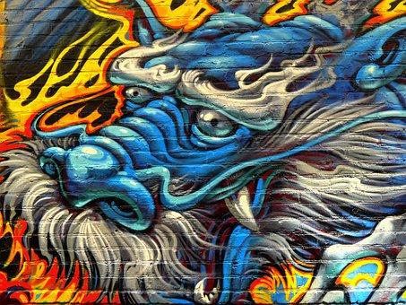 Dragon, Editorial, Graffiti, Drawing, Urban Art, Art