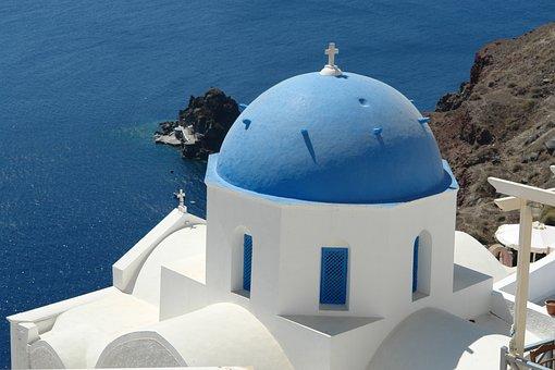 Santorini, Greece, View, Greek, Travel, Island, Sea