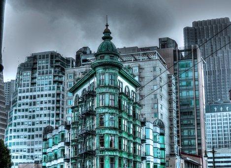 San Francisco, Restaurant, Editorial, Building, Green
