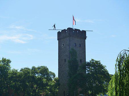 Tower, Middle Ages, Götz Tower, Heilbronn, City Wall