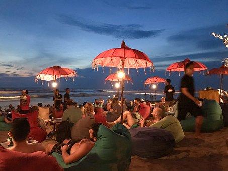 Seminyak, Bali, Indonesia, Holiday, Leisure, Night