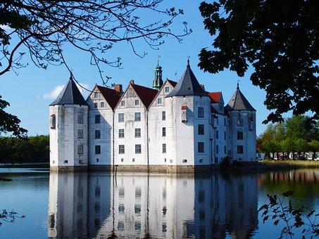 Glücksburg, Castle, Mecklenburg, Moated Castle