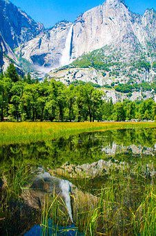 Yosemite, Waterfall, Usa, Park, California, National
