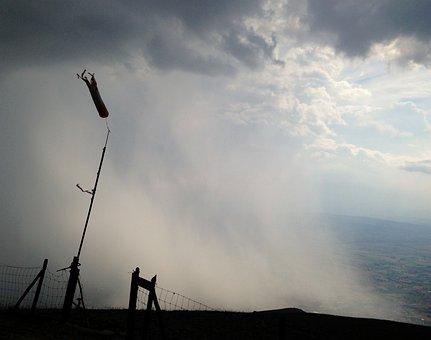 Storm, Cumulonimbus, Rain, Wind Sleeve, Weather, Clouds