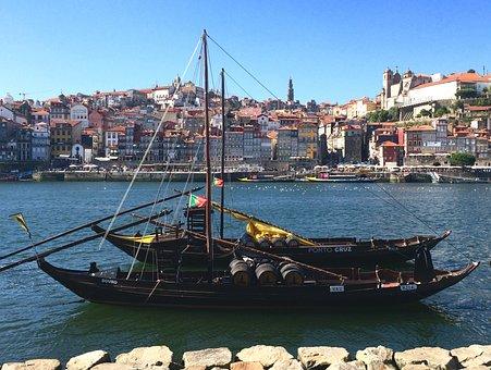 Boat, Porto, Portugal, Water, Douro, River, Tourism