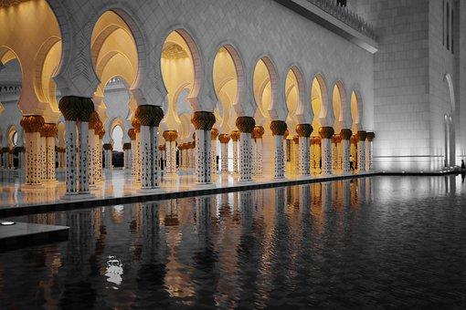 Sheikh Zayed Mosque, Abu Dhabi, Uae, Arab, Religious