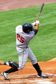 Baseball, Strike, Swing, Miss, Bat, Team, Ball, Player