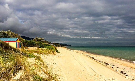 Clouds, Sand, Beach, Bay Beach, Port Phillip Bay, Sea